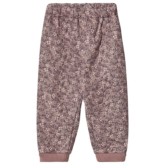 Wheat Alex Thermo Pants Dusty Rouge Print Dusty Rouge