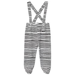 Noe & Zoe Berlin Stripe Terry Overalls Black