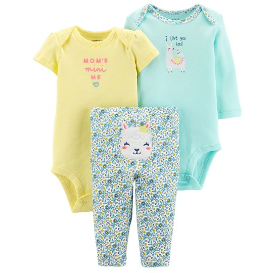 Carter's Little Llama Baby Body Set Yellow YELLOW (700)