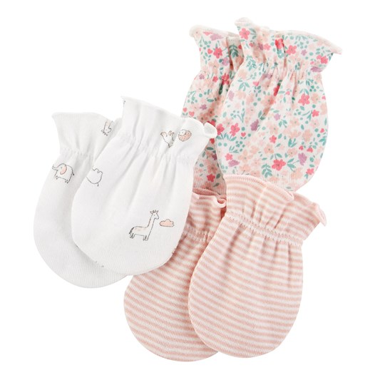 Carter's 3-Pack Mittens Ivory/Pink PINK (650)