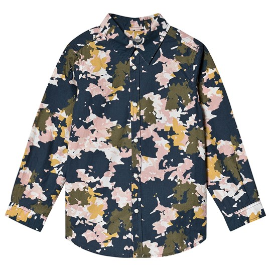 Bonpoint Flower Camo Shirt Navy 696