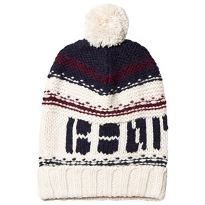 Image of Bonpoint Cream Bonpoint Logo Strik Pom Pom Beanie T5 (10-14 years) (1468439)