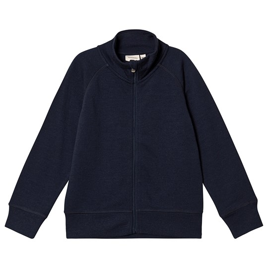 Kuling Wool Terry Cardigan Navy