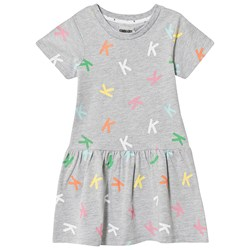 Kimba Kids Allover K Dress Grey