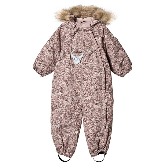 Wheat Snowsuit Nickie Rose Powder Print Rose Powder