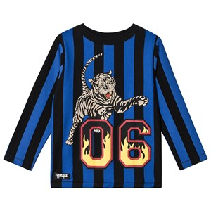 Image of Yporqué Flames Tiger Tee Blå Striber 4 år (1409208)