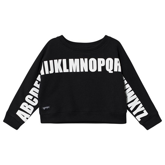 Yporqué Alphabet Dolman Cropped Sweater Black Black