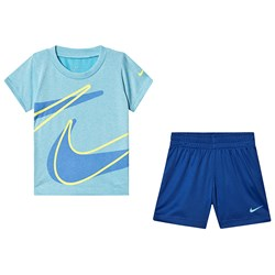 NIKE Swoosh Tee and Shorts Set Indigo Force
