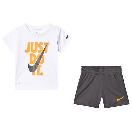 NIKE Just Do It Tee and Shorts Set Dark Grey G1A