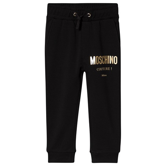 Moschino Kid-Teen Couture Sweatpants Black and Gold 60100