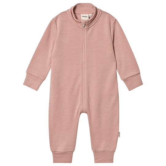 Kuling Uld Frotté Baby Bodysuit Pink