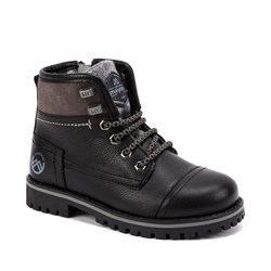 Mayoral Leather Lace and Zip Biker Style Boots Black