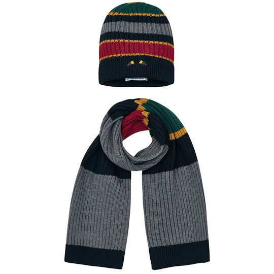Mayoral Varsity Style Beanie and Scarf Set Grey 56