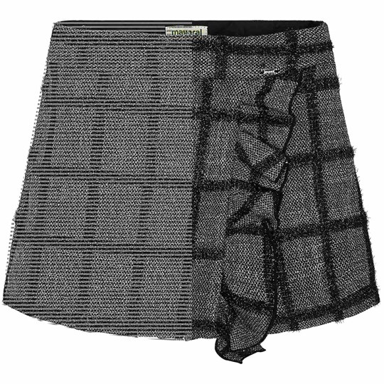 Mayoral Check Skirt Grey and Black 55