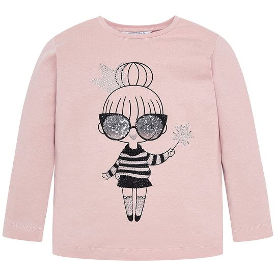 Mayoral Langærmet Fairy Girl T-shirt Pink 63