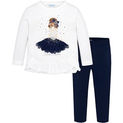 Mayoral Girl Tee and Leggings Set Navy and White