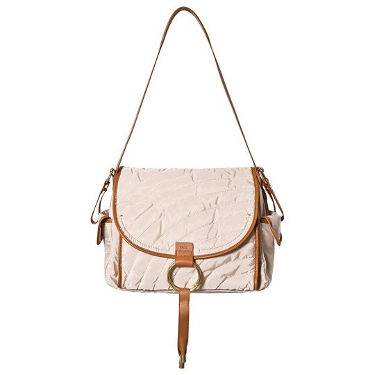 Chloé Quilted Changing Bag Beige Z40