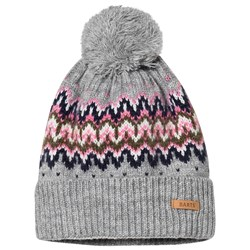 Barts Scout Fairisle Knitted Hat Gray
