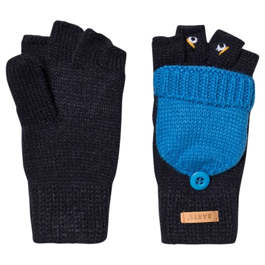Barts Face Emanuel Convertible Mittens Navy/Blue 03