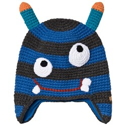 Barts Monster Face Knit Beanie Blue