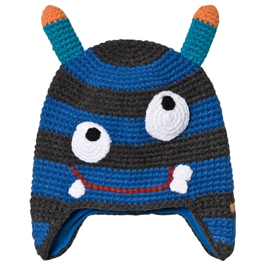 Barts Monster Face Knit Beanie Blue 04