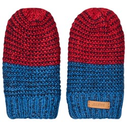 Barts Chippie Mittens Navy/Red Stripe
