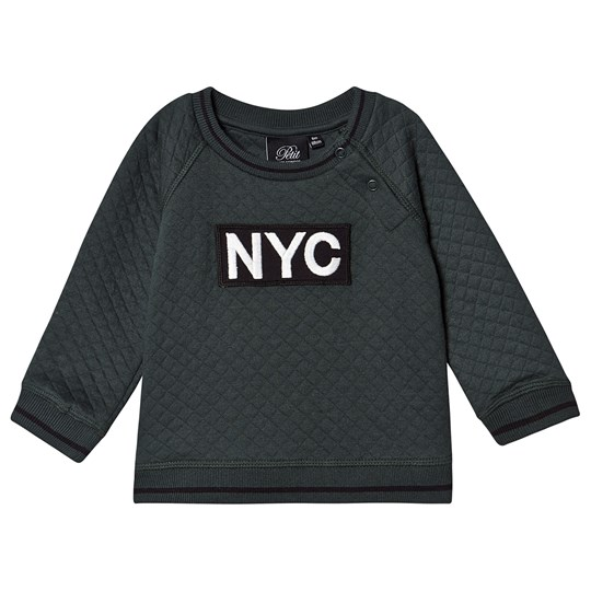 Petit by Sofie Schnoor Quiltet NYC Sweater Mørk Grøn dark green
