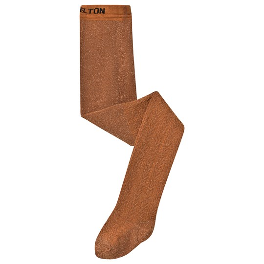 Melton Glitter Tights Brown Leather Brown