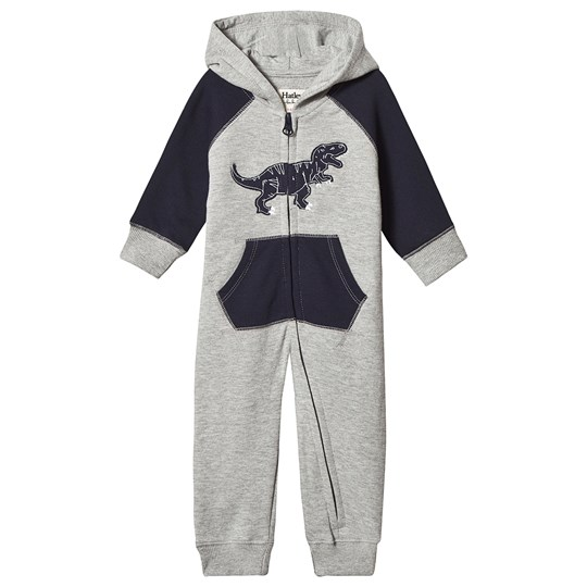 Hatley Dino Hooded One-Piece Grey/Navy Black