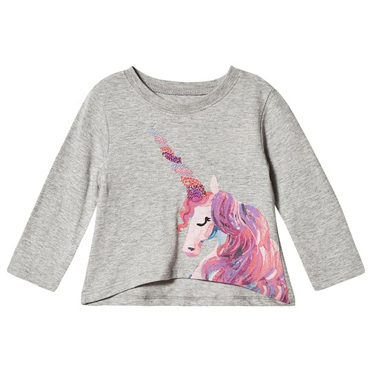 Hatley Enchanted Unicorns Long Sleeve Infants Tee Grey Black