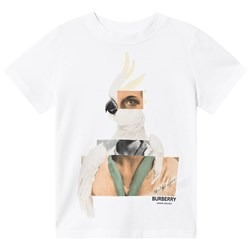 Burberry Cockatoo Collage T-Shirt White