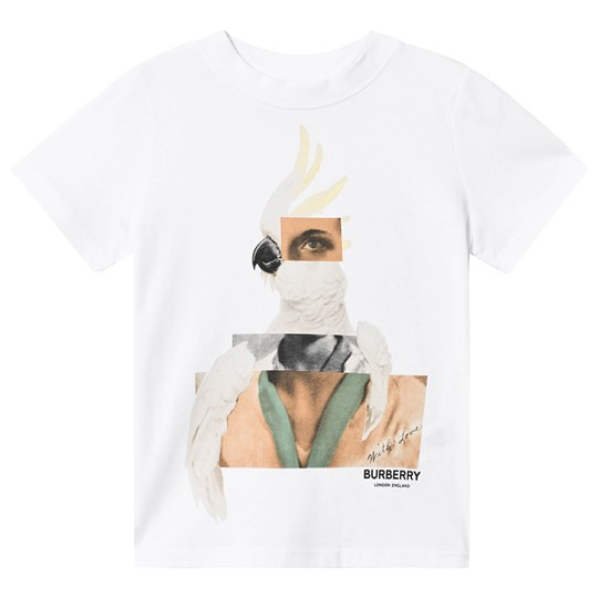 Burberry Cockatoo Collage T-shirt Vit White