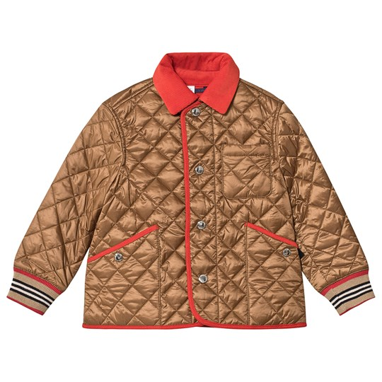 Burberry Diamond Quilted Jacket Bronze Bronze