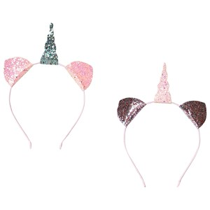 Image of Ciao Charlie 2-Pack Unicorn Headbands Pink One Size (1389442)