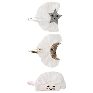 Image of Ciao Charlie 3-Pack Glitter Star/Moon/Cloud Hair Clips One Size (1389459)
