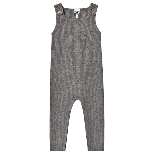 Bonton Knitted Overalls Grey Chine Gris