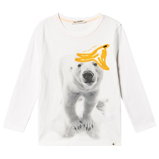 Billybandit Polar Bear Long Sleeve Tee White 117