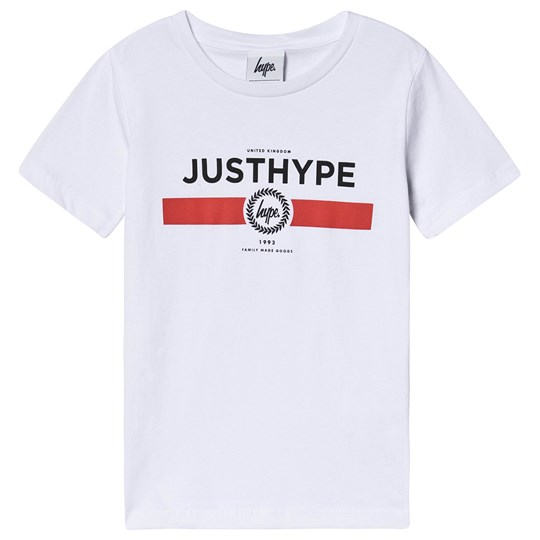 Hype Red Line T-Shirt White White