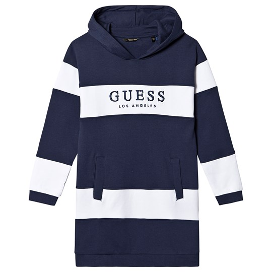 Guess Branded Hoodie Dress Navy/White FR90