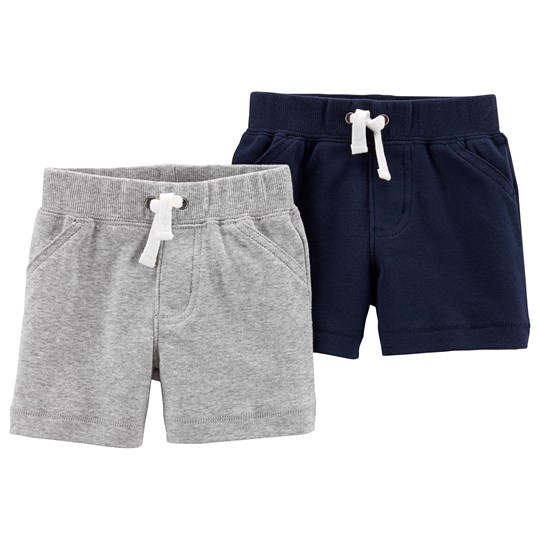 Carter's 2-pack Pull-On Shorts Heather/Marinblå HEATHER (053)