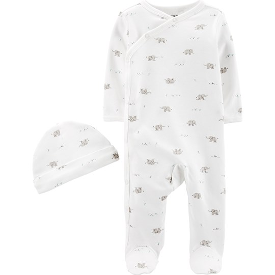 Carter's 2-Piece Cap & Side-Snap Sleep & Play Set Ivory IVORY (153)