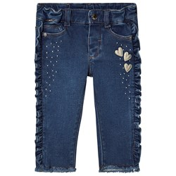 Mayoral Ruffle Jeans Blue