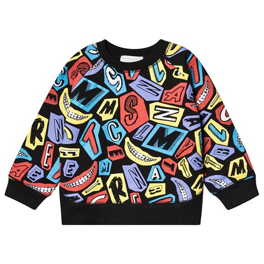 Stella McCartney Kids Black Multi Logo and Smiles Sweatshirt 1078