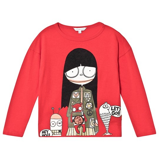 Little Marc Jacobs Miss Marc Monsters Long Sleeve Tee Red 991