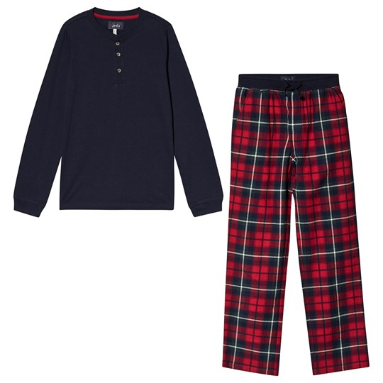 Tom Joule Check Settledown Pajama Set Navy & Red Red Check