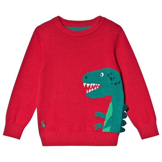 Tom Joule Dino Spike Knitted Zany Sweater Red Red Dino Spike