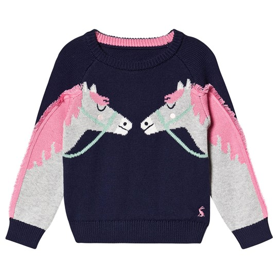 Tom Joule Horse Geegee Knitted Novelty Sweater Navy NAVY DOUBLE HORSE
