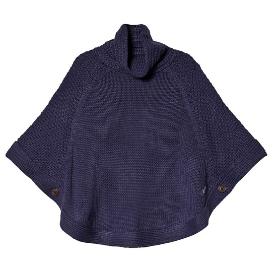 Tom Joule Cable Knit Tess Poncho Navy MID NAVY