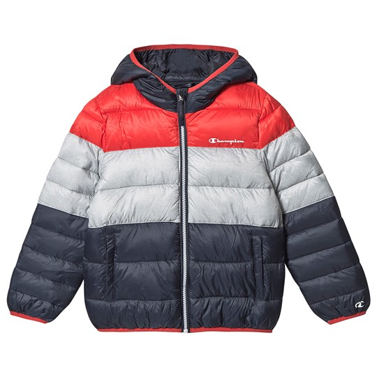 Champion Colorblock Puffer Coat Red & Navy FLS/OXGM/ALLOVER GP4407/NNY/NNY