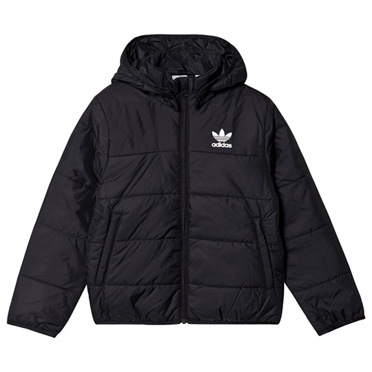 adidas Originals Trefoil Logo Puffer Jacket Black black/white reflective